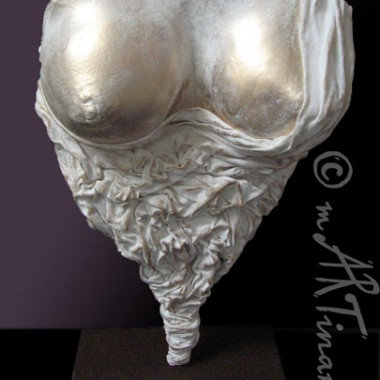 breasts cast, drapery, gold-white surface