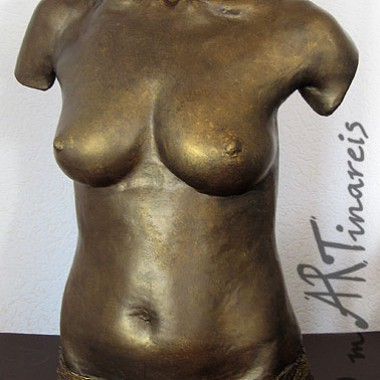 half torso, bronze finish