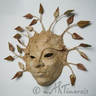 ´Tree spirit´- papiermache mask