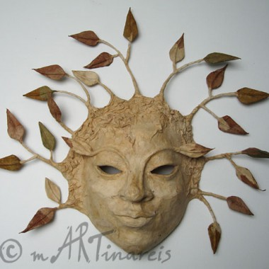 ´Tree-Spirit´- papier mache mask