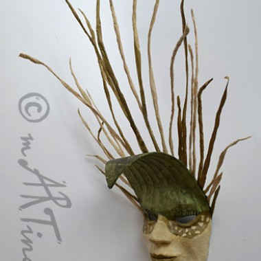 'King of grass' - papier mache mask