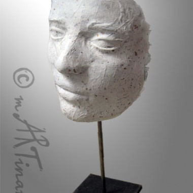 Self Portrait - life cast of paper