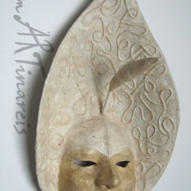 ´Calla´- decorative wall mask of papier mache