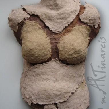 ´Fragment Eva´- Torso made of pappmache