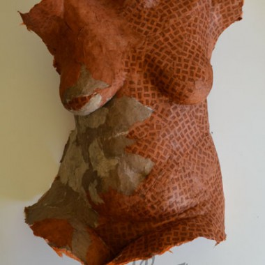 Papiertorso made of Kahari Papier
