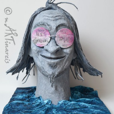 'Incurable optimist' - papier sculpture