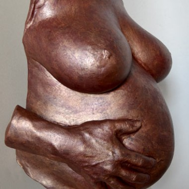 Belly in copper finish with fathers hand