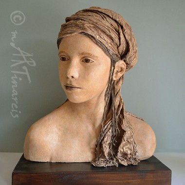 Bust of a girl, life cast