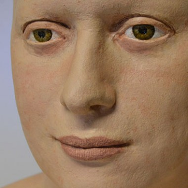 realistic bust, plaster, detail