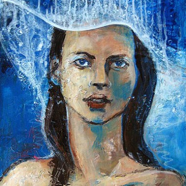 'Kate's new water hat' - 2007 - Acrylic - 40x60 cm