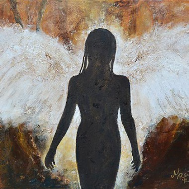 ´Angel´ 60x80 cm, mixed media