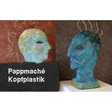 Video-tutorial: papier-mache relief head