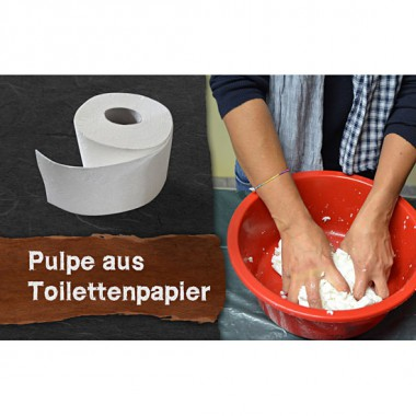 Video-tutorial - Pulp made of toilet paper