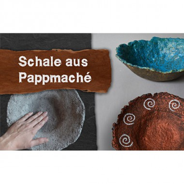 Video-tutorial - Bowl made of papier mache (pulp)