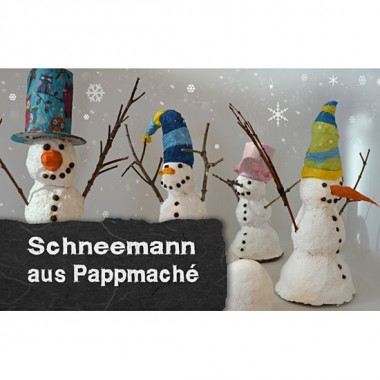 Video-tutorial - snowman made ​​of papier mache